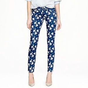 J. Crew Floral Cropped Matchstick Jeans W-26